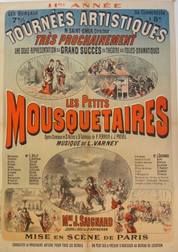 Jules Chéret : lithographie originale, C. 1885 - 86 x 122,5 cm - 34 x 48 in